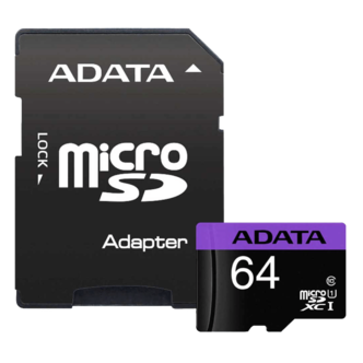 ADATA Premier UHS-I Class 10 80MBps microSDHC 64GB With Adapter